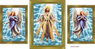 Almera Jesus and the Angels Set of Three Original Paintings Image