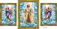 Almera Jesus and the Angels Set of Three Original Paintings Image
