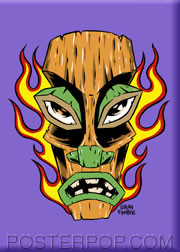 Forbes Flaming Tiki Fridge Magnet Purple Image