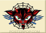 Forbes Evil Cat Fridge Magnet Tan Image