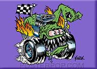 Kozik Butt Racer Fridge Magnet Image
