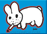 Kozik Original Smokin Bunny Fridge Magnet Image