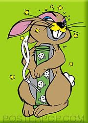 Kozik Bong Bunny Fridge Magnet Image