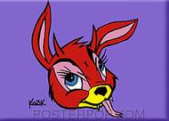 Kozik Bunny Evil Fridge Magnet Image