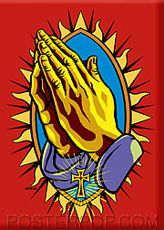 Almera Praying Hands Fridge Magnet Image