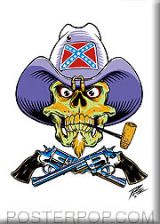 Pizz Rebel Skull Fridge Magnet image