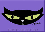 Shag Pop Cat Fridge Magnet Image