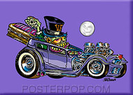 Von Franco Coffin Hauler Fridge Magnet Image