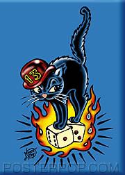 Vince Ray 13 Cat Fridge Magnet Image