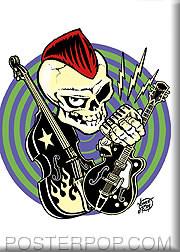 Vince Ray Rocker Fridge Magnet Image