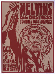 Forbes Melvins 2007 NYC Silkscreen Concert Poster Image