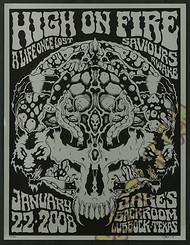 Forbes High On Fire 2008 TX Silkscreen Concert Poster