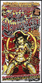 BigToe Ivy D'Muerta Silkscreen Burlesque Poster 2009 Image
