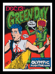 Coop Green Day Silkscreen Concert Poster 1995 Image