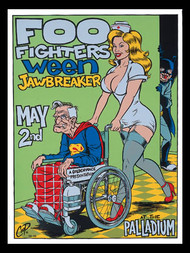 Coop Foo Fighters, Ween Silkscreen Concert Poster 1996 Image
