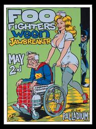 Coop Foo Fighters, Ween Silkscreen Concert Poster 1996 Image