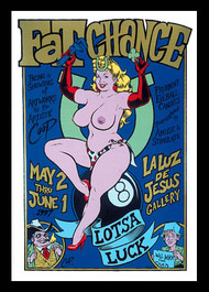 Coop Fat Chance Art Show Silkscreen Poster 1997 Image