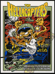 Dirty Donny Hellacopters 10-25-08 Sweden Silkscreen Concert Poster Image