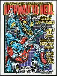 Dirty Donny Highway to Hell Kustom Car Show Silkscreen Concert Poster 2008 Image