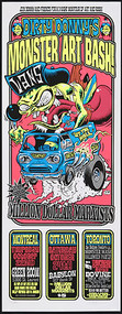 Dirty Donny Monster Art Bash Canadian Tour Silkscreen Poster 2009 Image
