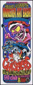Dirty Donny Monster Art Bash Chislers Car Club SF X-Mas Silkscreen Poster 2009 Image