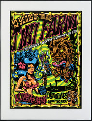 Dirty Donny Tiki Farm 10th Anniversary Dynotones Silkscreen Concert 2010 Image