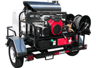 Pressure Pro Super Skid Tow-Pro Trailer. *Unit Pictured may have a different engine and/or pump than the unit listed.*