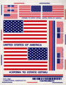 Pine-Pro - 10022 USA Flag Decal Set - 10022