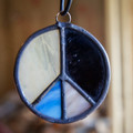 Stained Glass Peace Sign 36