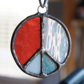 Stained Glass Peace Sign 58