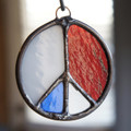 Stained Glass Peace Sign 61