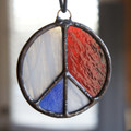 Stained Glass Peace Sign 62