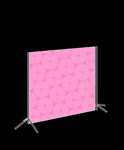 3.5m x 3m Freestanding Fabric Backdrop Package