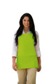 "Lime Green Three Pocket Restaurant Quality Bib Apron with Adjustable Neck Strap - 24"" H x 28"" W - Item # 350-200 - Best Seller!"