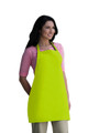 "Lime Green No Pocket Unisex Styling Restaurant Quality Bib Apron with Adjustable Neck 28""L x 24""W Item # 350-210 - Best Seller!"