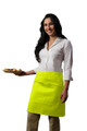 "Lime Green Two Pocket Half Bistro Restaurant Server Waist Apron 19""L x 28""W Item # 350-110"