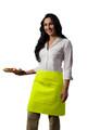 "Lime Green Two Pocket Half Bistro Restaurant Server Waist Apron 19""L x 28""W Item # 350-110"