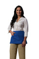 Cobalt Blue Three Pocket Unisex Server Waist Apron Available In Three Great Size Options Item # 350-100