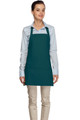 "Teal Criss Cross Back Three Pocket Restaurant Quality Bib Apron 24"" L x 28"" W - Item # 350-200XX"