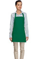 "Kelly Green Criss Cross Back Three Pocket Restaurant Quality Bib Apron 24"" L x 28"" W - Item # 350-200XX"