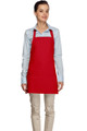 "Red Criss Cross Back Three Pocket Restaurant Quality Bib Apron 24"" L x 28"" W - Item # 350-200XX"