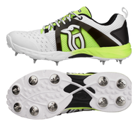 Kookaburra KCS 2000 Spike Cricket Shoe - White/Fluro - 2018 Edition