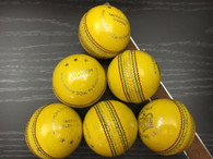 BA Crown Indoor Yellow Cricket ball - 6 Balls