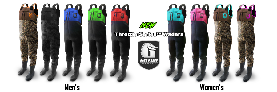 New Throttle Series Gator Waders