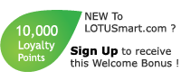 LOTUSmart 10000 Welcome Bonus points