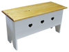 Shown in Solid Cottage White with Stained top and optional Heart cutout