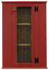 Corner Hutch shown in Old Red with Screen Door