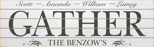Option 2 - Last Name & Family Members (Shown in Old Cottage White with Charcoal lettering)
