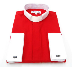 French Cuff Clergy Shirt In Red