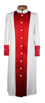 10-CLOSEOUT - 121. Men's Clergy Robe in Ivory and Red